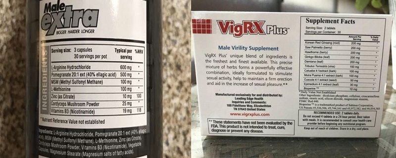 Male-Extra-vs-VigRX-Plus-Ingredients