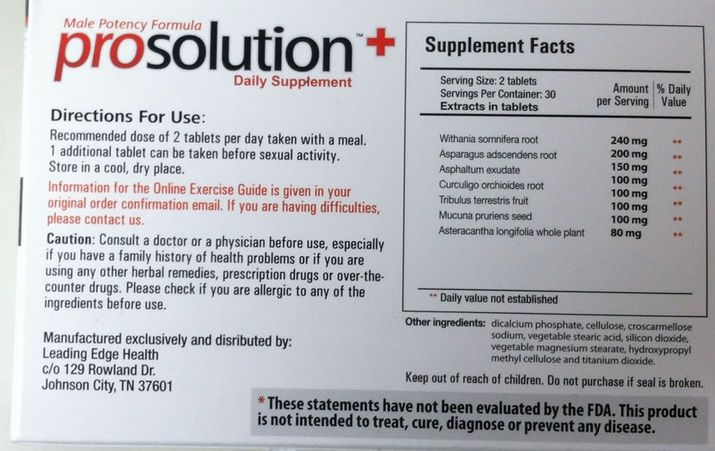 ProSolution Plus Label