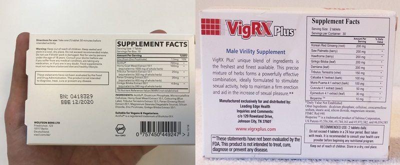Viasil-vs-VigRX-Plus-Ingredients
