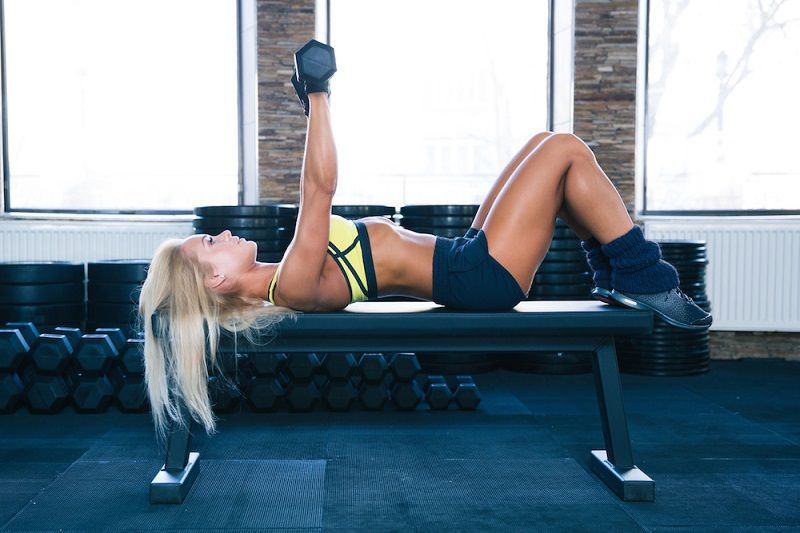Breast Firming Exercises Dumbbell Chest Press